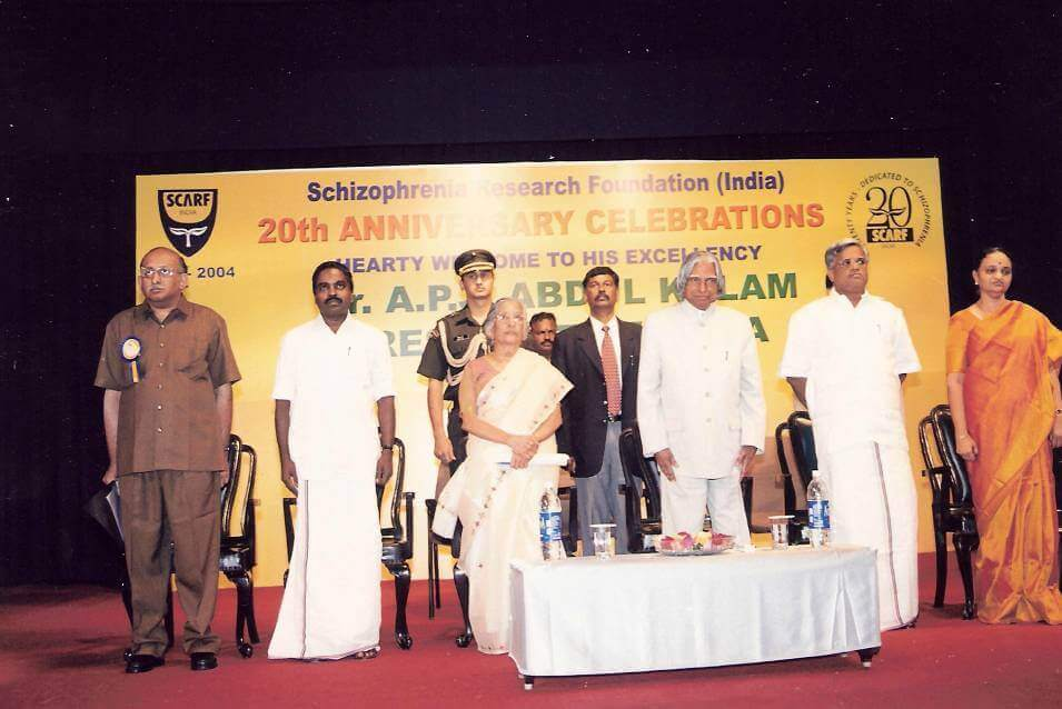 During Anti-Stigma campaing launch by late Dr A P J Abdul Kalam, 2004